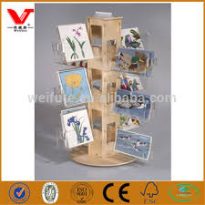 design wooden greeting card display stands acrylic shelf holder
