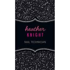 Salon Business Card Ideas Glitzy Pink And Black Glitter Sparkle Nail Technician Business