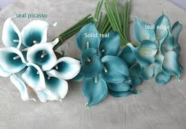 picasso calla aliexpress buy 10 picasso teal blue teal edge calla lilies