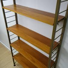 1960s teak book shelves by ladderax mark parrish mid century modern