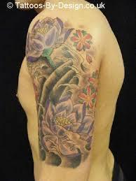 japanese tiger koi and lotus flowers sleeve