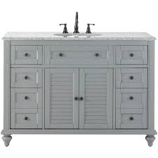 46 Inch Wide Bathroom Vanity by 48 Inch Vanities Bathroom Vanities Bath The Home Depot