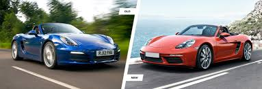 old porsche porsche 718 boxster old vs new comparison carwow