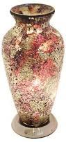 Mosiac Vase Anythingfurniture Mosaic Vase Lamp Black Blue Amber Purple
