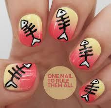 fish bones tutorial nail art designs