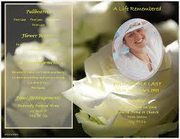 funeral program template lifecycleprints celebration of funeral program templates