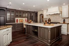 glass countertops kitchen cabinets and flooring combinations