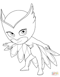 night ninja from pj masks coloring page free printable coloring