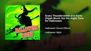 scary thunderstorm and eerie organ music set the right tone for