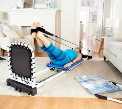 aeropilates 5 cord reformer with rebounder page 1 u2014 qvc com