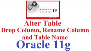 rename table name in sql sql in oracle 11g tutorial 5 alter table drop column rename