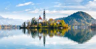 slovenia lake lake bled slovenia beautiful mountain lake with small pilgrimage