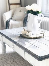 chalk paint coffee table farmhouse coffee table makeover
