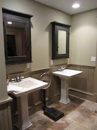 Bathroom Beadboard Ideas Colors Painting Beadboard A Different Colorne Cabinets Two Tone Walls