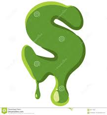 letter s made of green slime stock vector image 83177850