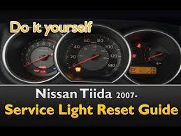 nissan versa check engine light nissan tiida service light reset guide youtube