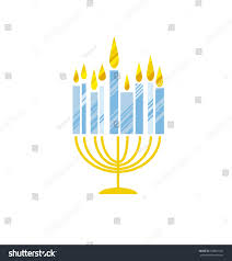 menorah buy hanukkah menorah vector illustration candles simple vector