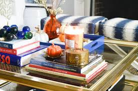 decorating for fall with scented candles home with keki