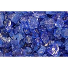 shop exotic glass ocean blue fire glass at lowes com