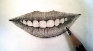 how to draw realistic lips using pencil teeth and lips with