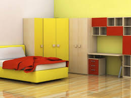 ideas simple kids bedroom design features yellow single bed