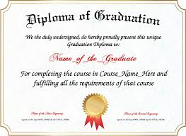 graduation diploma diploma of graduation template
