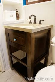 How To Build Your Own Bathroom Vanity by Diy Concrete Countertop Naptime Diy