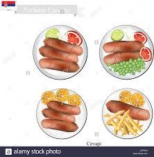 cuisine serbe la cuisine serbe illustration de cevapi ou grillés au charbon de