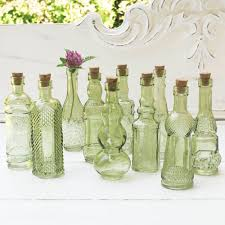 Mini Bud Vases Amazon Com Vintage Glass Bottles With Corks Bud Vases Assorted