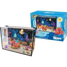 finding nemo glass aquarium 15 litres with hinged cover filter