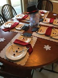 60 of the best christmas decorating ideas snowman place setting