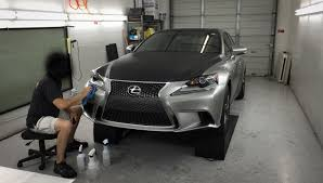 silver lexus 2009 2015 is350 atomic silver carbon fiber vinyl wrap clear bra