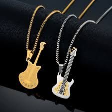 guitar necklace pendants images Men necklaces musical pendants jewelry for women stainless steel jpg