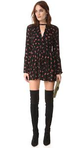 free people tegan printed mini dress black combo women clothing