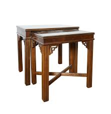 chinese chippendale style mahogany nesting tables by lane ebth