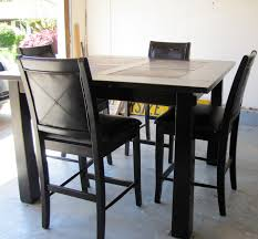 Black Distressed Pub Style Dining Table Furniture Pinterest