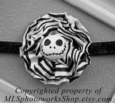 the pumpkin king headband jack skellington black and white