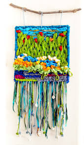 hooked u0026 stitched mystery garden wall hanging color crazy