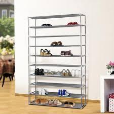 shoe organizer amazon com 10 tier extra wide gray shoe rack shelf tower