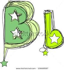 doodle alphabet hand drawn letter b stock vector 106688987