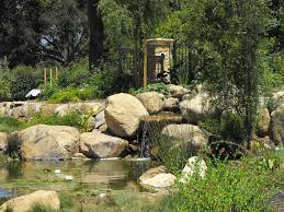 Rock Garden Waterfall Garden Artificial Waterfall With Decor And Small Pond Idea