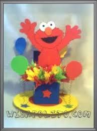 Elmo Centerpieces Ideas by Use Mason Jars As Base For The Elmo Centerpieces Crayons