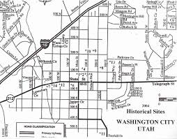 Washington State Map Cities Towns by Washington City Historic Sites