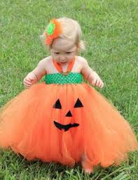 baby pumpkin costume simple ghost made with a tutu some black fabric