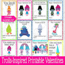 kids valentines cards 18 trolls printable s cards for kids best toys
