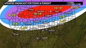 Snow Coverage Map Updated Snowfall Forecast Map U2013 Indianaweatheronline U2013 Indiana U0027s