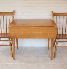 Wooden Drop Leaf Table Athol Oak Drop Leaf Table And Two Chairs Ebth