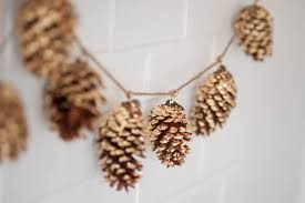 pinecone garland diy gold leaf pine cone garland the sweetest occasion