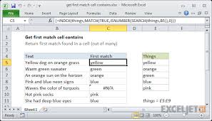 excel compare two tables find only matching data excel formula get first match cell contains exceljet