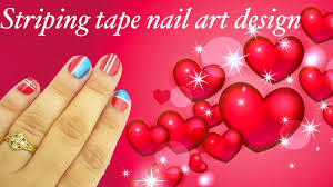 nail art designs step by step at home for beginners striping